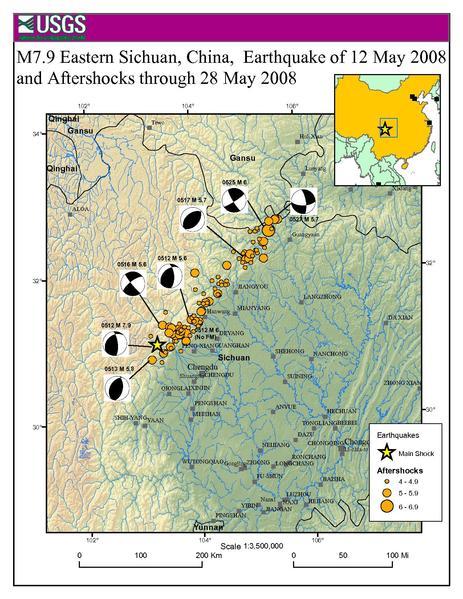 แผ่นดินไหวเสฉวน ประเทศจีน