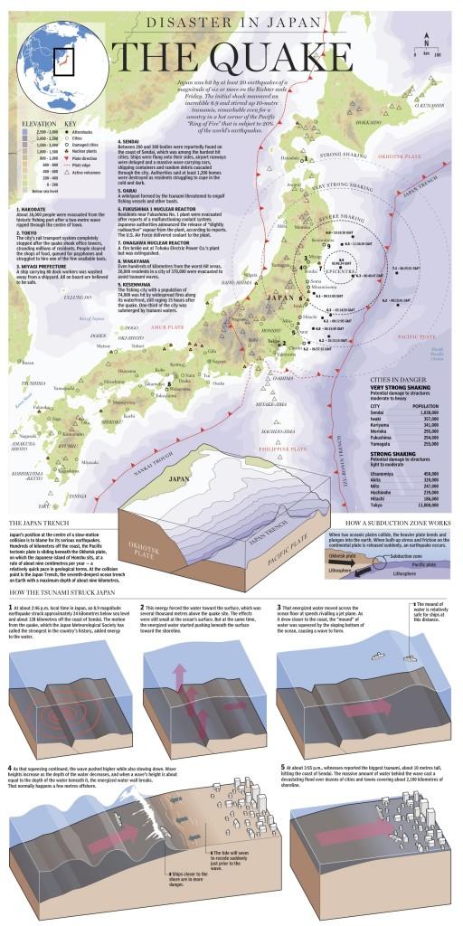 พื้นที่ที่ได้รับความเสียหายจากแผ่นดินไหวญี่ปุ่น 2
