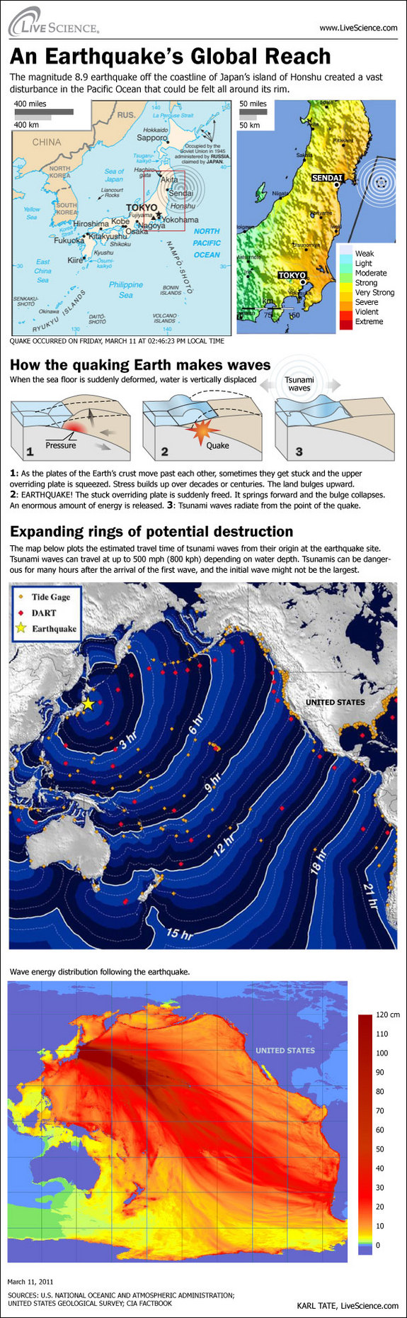 แบบจำลองการเกิดสึนามิหลังจากแผ่นดินไหวญี่ปุ่น