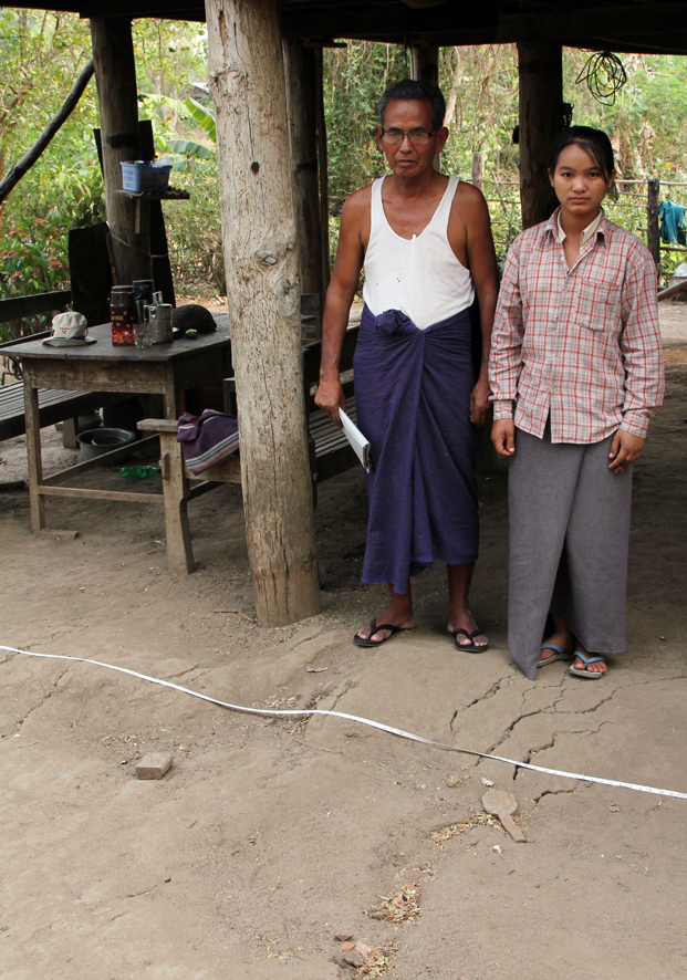 """We live on the Sagaing Fault in Thabeikkyin. Half of our house is attached to SE Asia and the other half is attached to India. During the earthquake the western half shifted over half a metre to the north."""