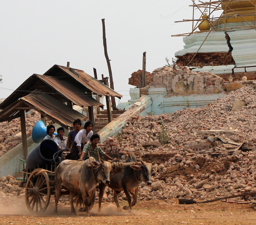 """We live in Male town which was badly damaged because it is built on a steep slope dipping into the Ayeyarwaddy River."""