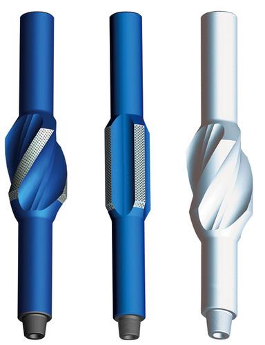 (ซ้าย) Spiral Integral Blade Stabilizer (กลาง) Straight Integral Blade Stabilizer (ขวา) Non-Magnet Integral Blade Stabilizer (source Tianheoil.com)