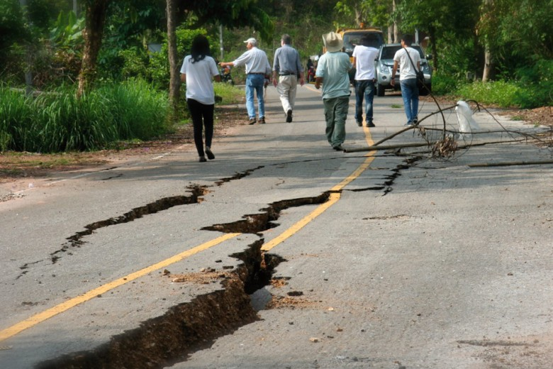รอยเลื่อนและแผ่นดินไหว จ.เชียงราย 2557